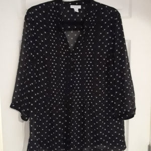 Charter Club polka dot blouse (1X)